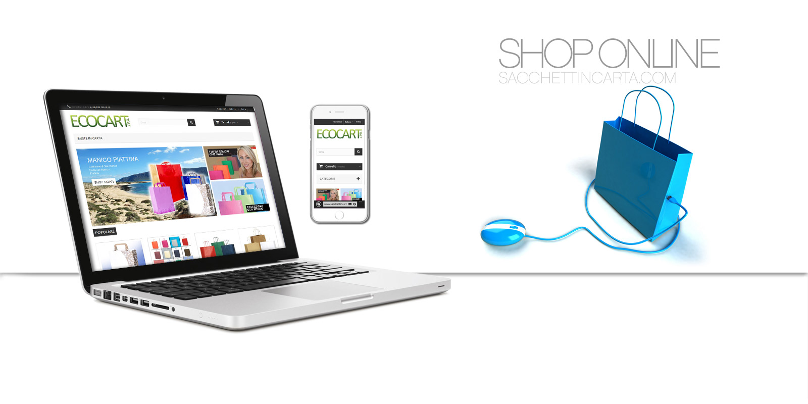 Shop Online sacchettincarta.com Ecommerce by Ecocart Spa
