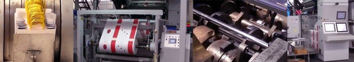Production of carrier bags in Ecocart Spa Italy