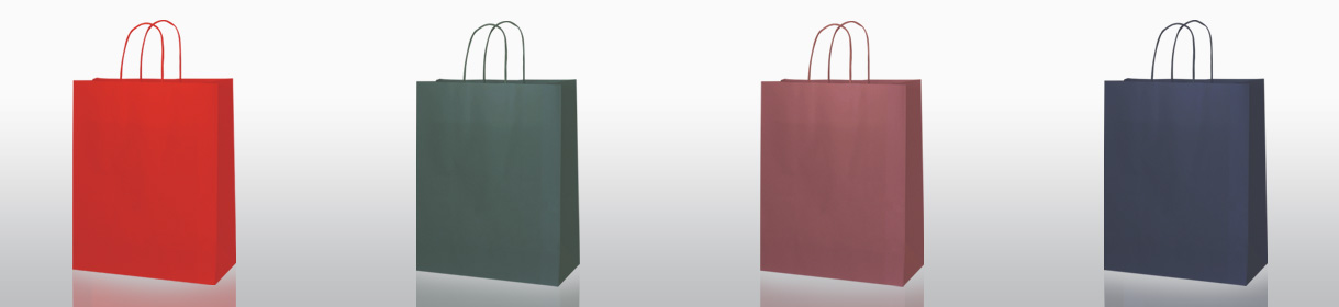 Plain Paper Shopping Bags Colours: Red, Dark Green, Wine Red, Navy Blue.