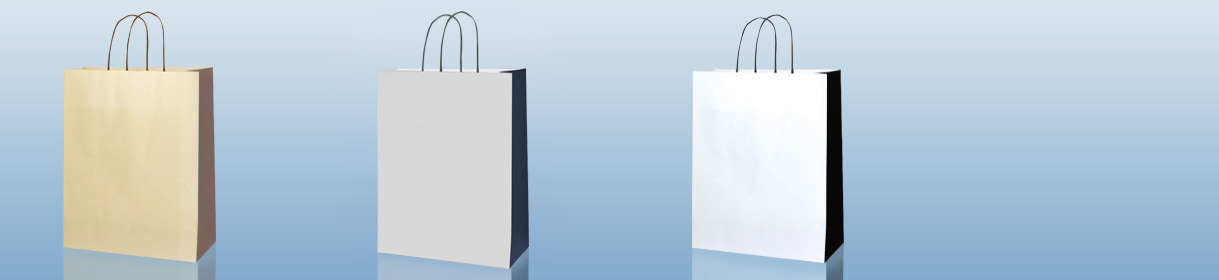 Plain Paper Shopping Bags Colours: Two Colour Custard/Choco Brown, Silver/Navy Blue, White/Black.